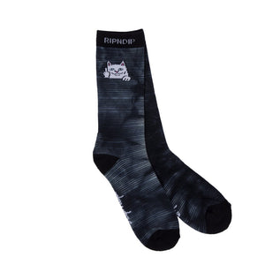 RIPNDIP - Peek A Nermal Socks, Black/White Dye