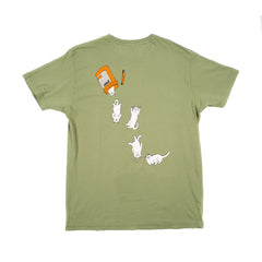 RIPNDIP - Nermal Pills Men's Tee, Green - The Giant Peach