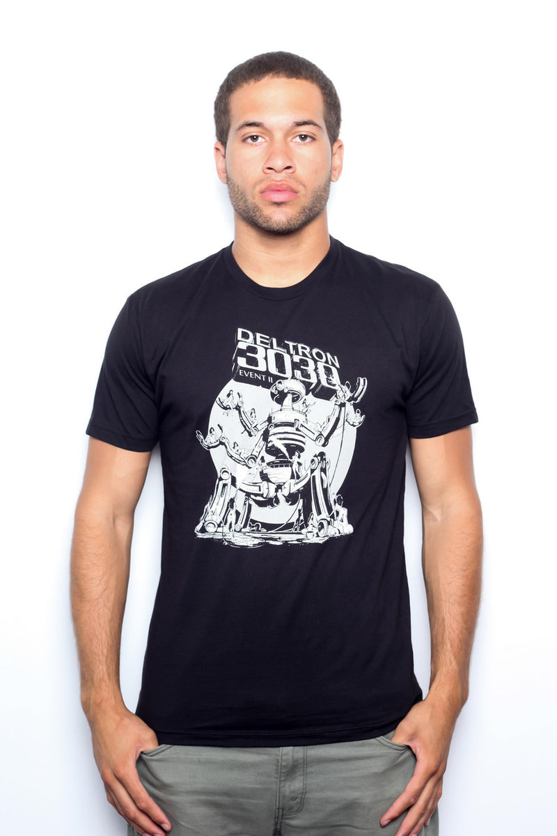 Deltron 3030 - Mech of the Year Men's Shirt, Black - The Giant Peach