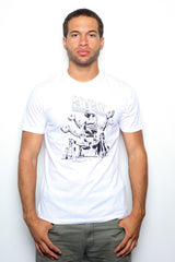 Deltron 3030 - Mech of the Year Men's Shirt, White - The Giant Peach