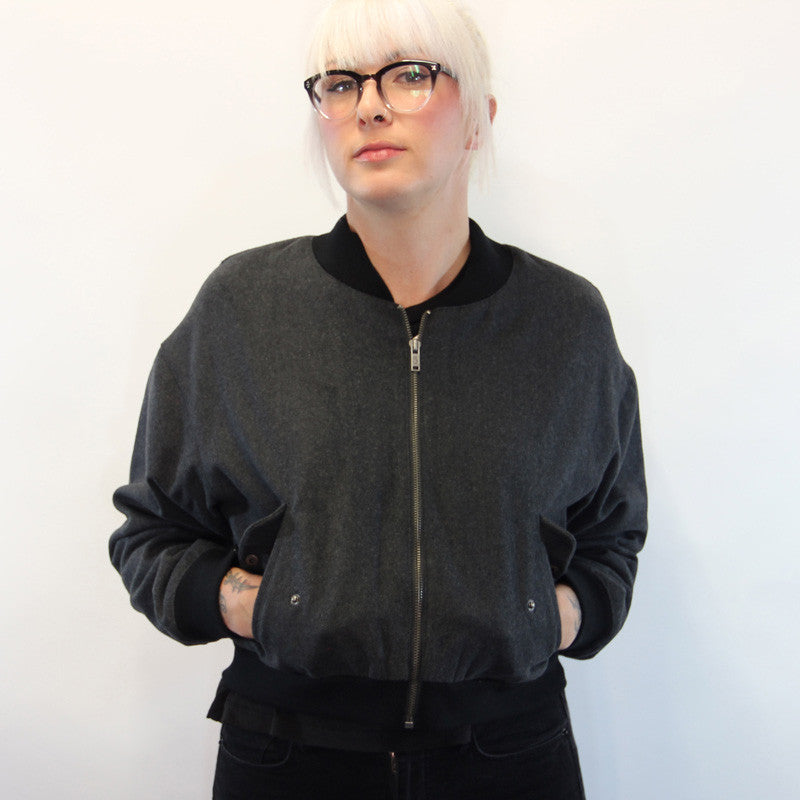 Cheap Monday - Bomb Women's Jacket, Charcoal Melange - The Giant Peach