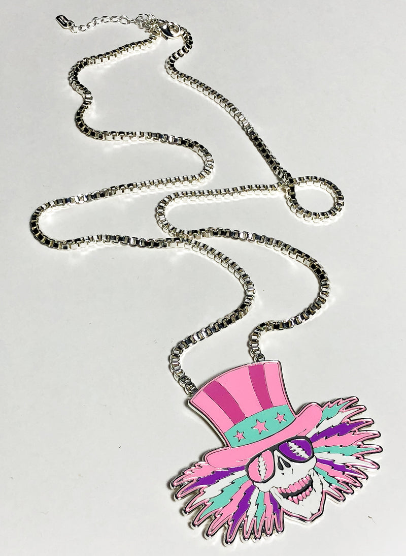 TRiXY STARR X GRATEFUL DEAD - Uncle Sam Necklace, silver
