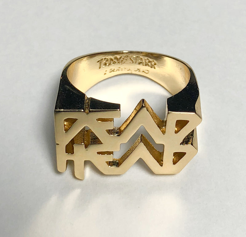TRiXY STARR X GRATEFUL DEAD - Dead Head ring, gold