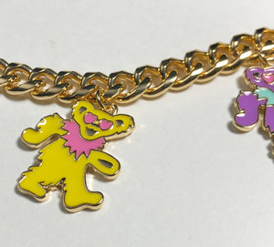 TRiXY STARR X GRATEFUL DEAD - Dancing Bears necklace, gold