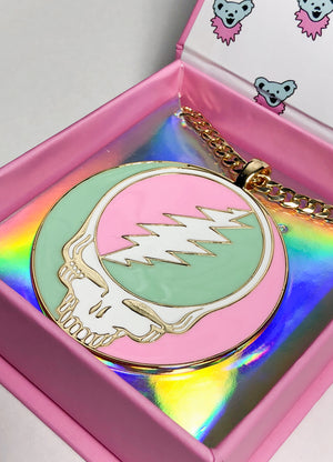 TRiXY STARR X GRATEFUL DEAD - Pastel Stealie necklace, Gold