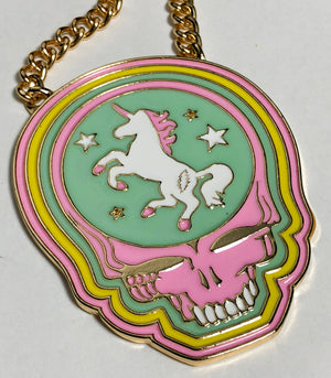 TRiXY STARR X GRATEFUL DEAD - Unicorn Stealie necklace, Gold