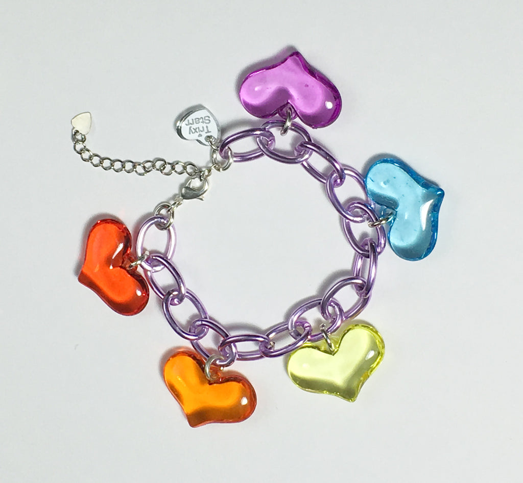 TRIXY STARR- Rainbow Blessings Bracelet, Lilac - The Giant Peach
