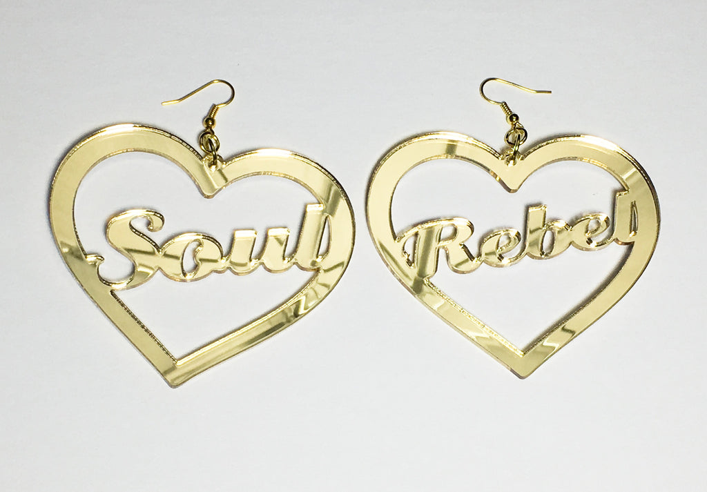 TRiXY STARR - Soul Rebel Earrings, Gold - The Giant Peach
