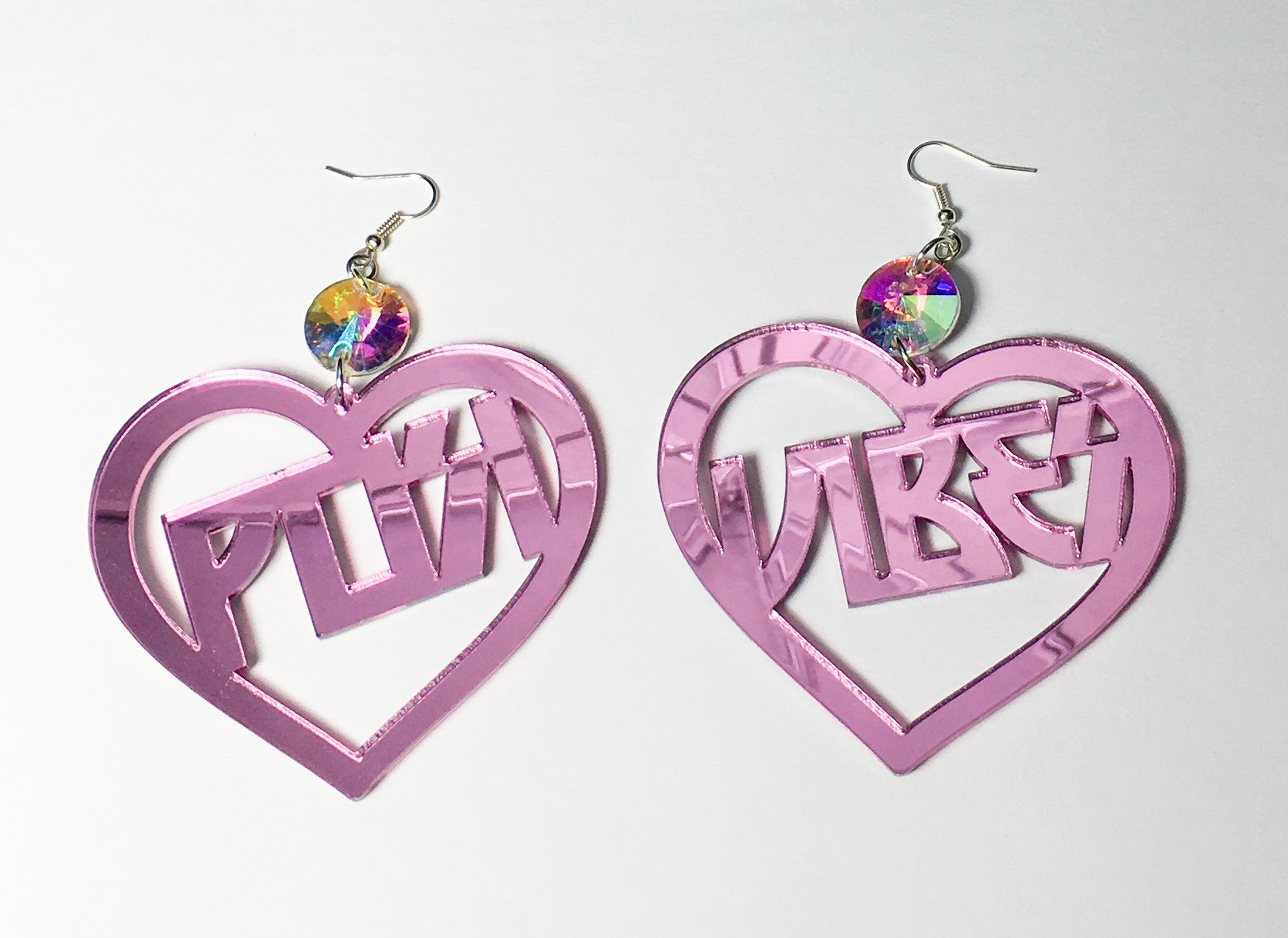 TRIXY STARR - Posi Vibes Earrings, Pink