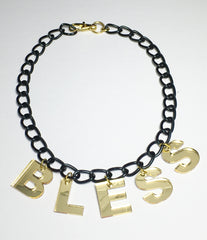 TRIXY STARR- Bless Necklace, Black - The Giant Peach