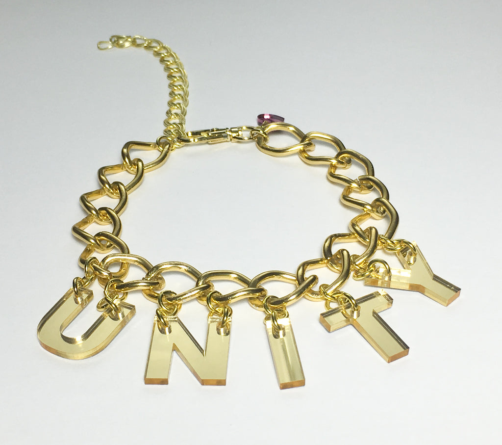TRIXY STARR - Unity Choker, Gold - The Giant Peach