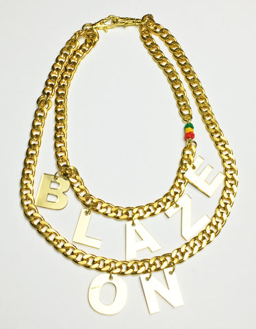 TRIXY STARR - Blaze On Necklace, Gold