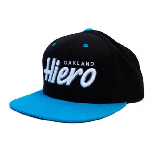 Hieroglyphics - Oakland Snapback Hat, Black/Teal - The Giant Peach - 2