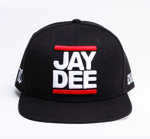 J Dilla - Jay Dee Snapback, Black - The Giant Peach