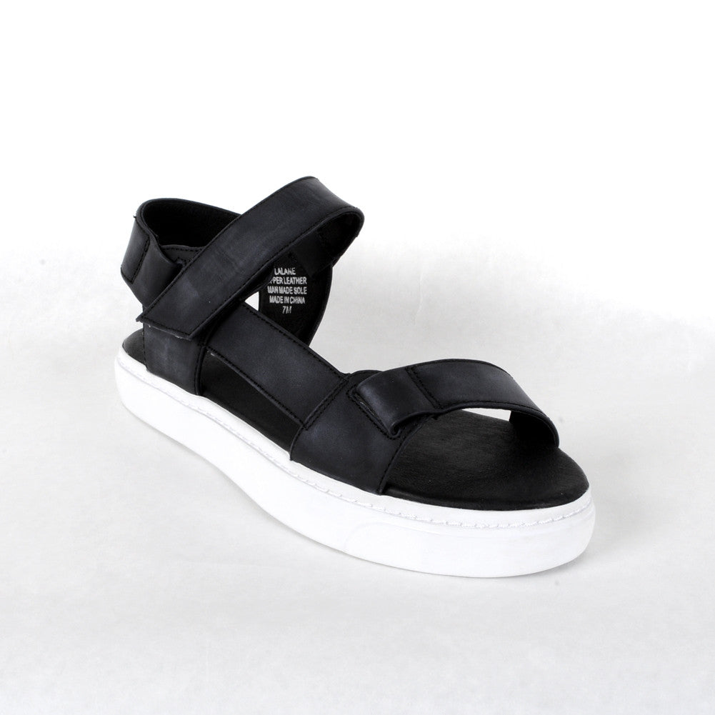 Jeffrey Campbell - Lalane Sandal, Black White - The Giant Peach