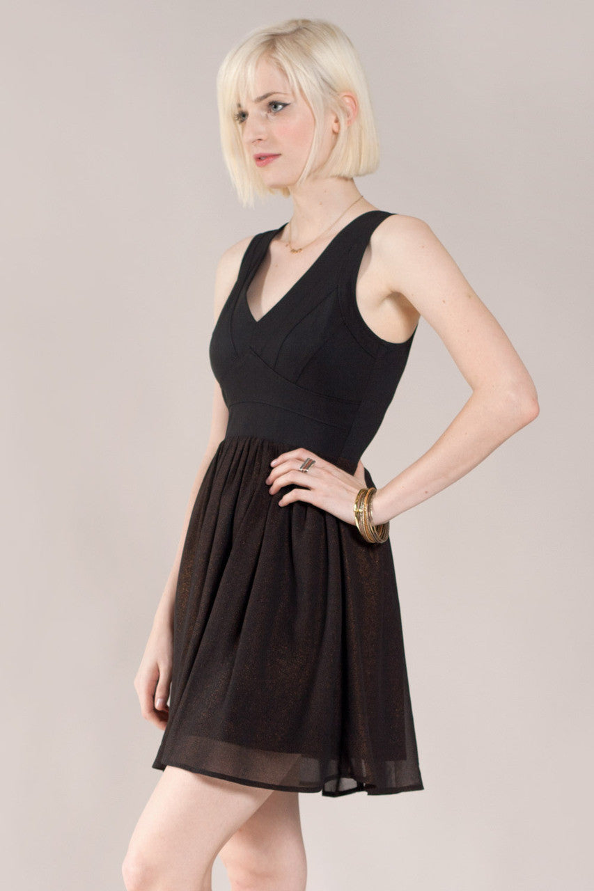 Bandage Mix Mini Dress, Black - The Giant Peach - 3
