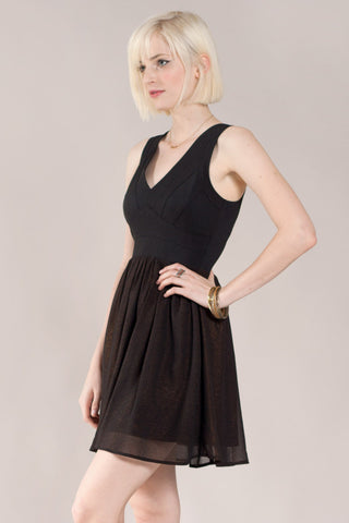 Bandage Mix Mini Dress, Black