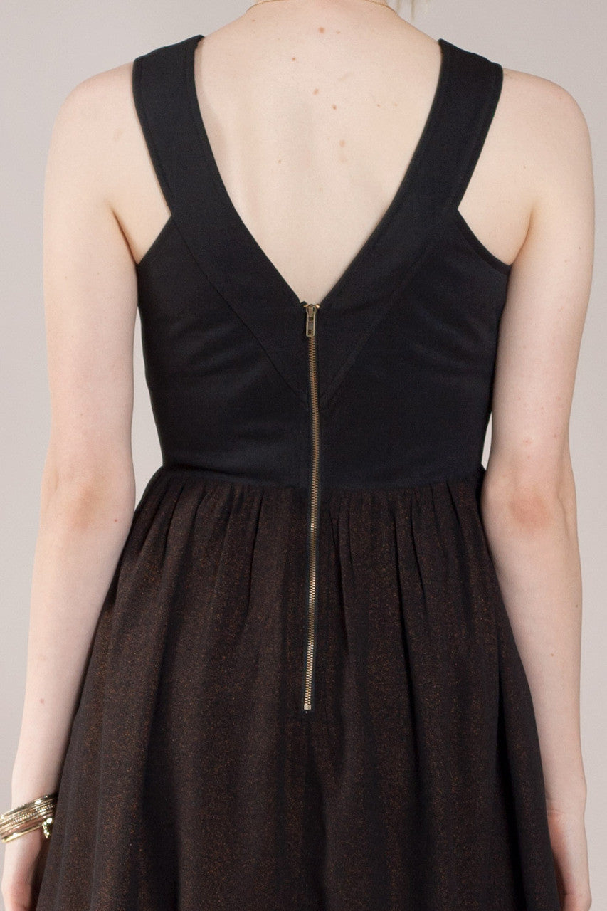 Bandage Mix Mini Dress, Black - The Giant Peach - 5