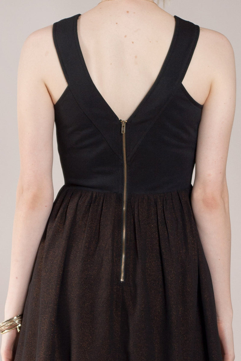 Bandage Mix Mini Dress, Black - The Giant Peach