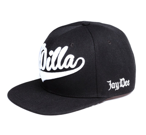 J Dilla - Snapback, White on Black