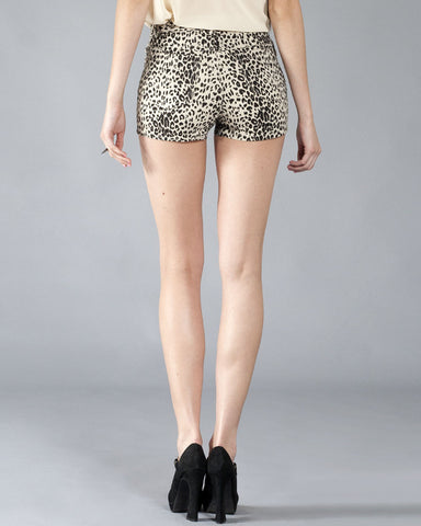 Big Cat Women's Shorts, Cream and Black
