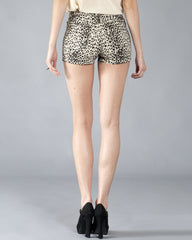 Big Cat Women's Shorts, Cream and Black - The Giant Peach - 2
