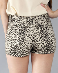 Big Cat Women's Shorts, Cream and Black - The Giant Peach