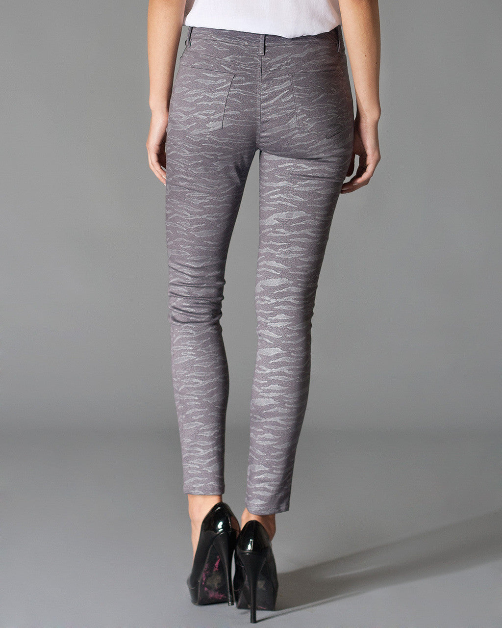 Spirit Animal Skinny Pants, Glittery Grey - The Giant Peach - 2