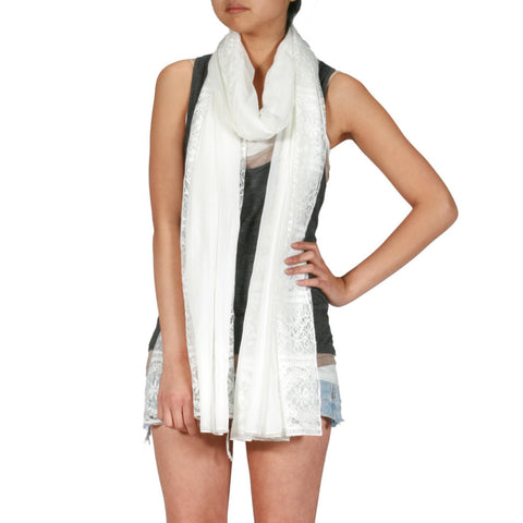 Bella Donna Scarf, White - The Giant Peach