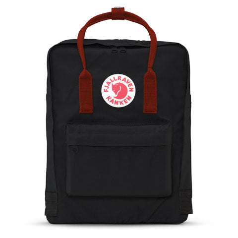 Fjallraven - Kanken Backpack, Black/Ox Red - The Giant Peach