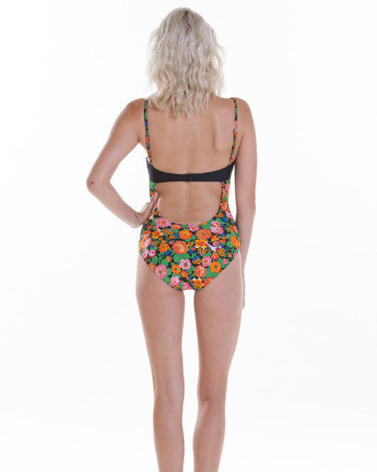 OBEY - Kozmic Fleur Balcony One Piece Swimsuit - The Giant Peach