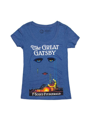 Out Of Print - The Great Gatsby (First Edition) Women's Shirt, Blue