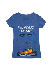 Out Of Print - The Great Gatsby (First Edition) Women's Shirt, Blue - The Giant Peach