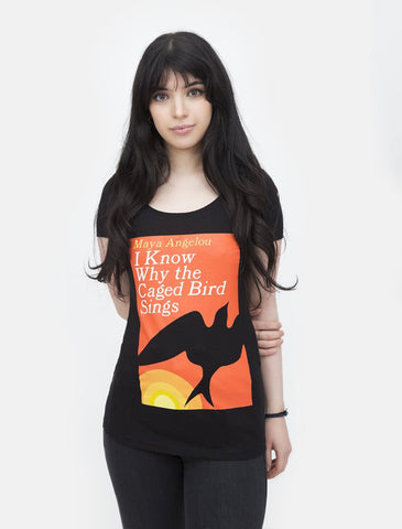 Out Of Print - I Know Why The Caged Bird Sings Women's Shirt, Black