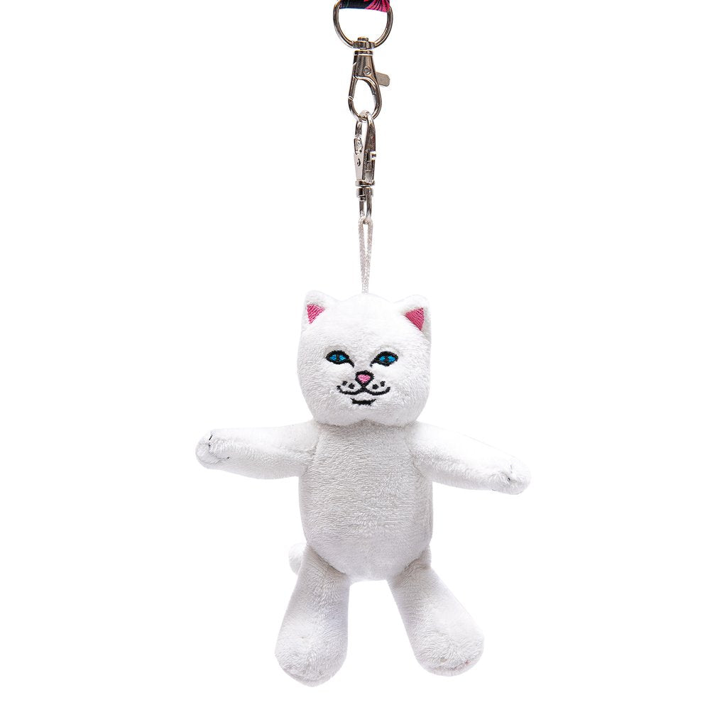 RIPNDIP - Lord Nermal Plush Keychain, White