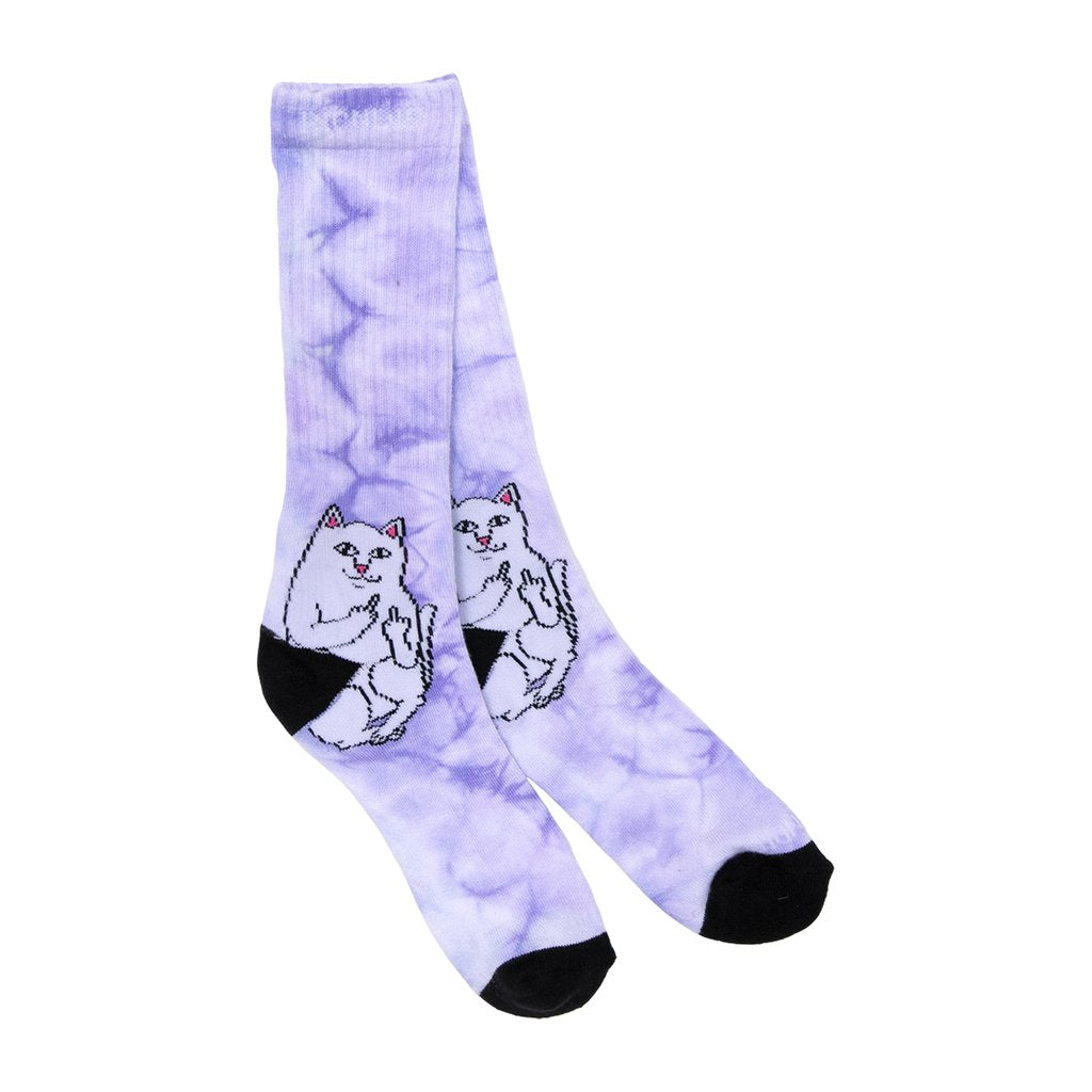 RIPNDIP - Lord Nermal Socks, Purple Tie Dye