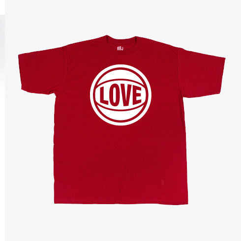 Bball Junkies - Love Men's Tee, Scarlet - The Giant Peach