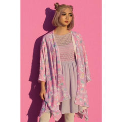 JapanLA - Little Twin Stars Dreamy Unicorn Kimono, Pink- O/S - The Giant Peach