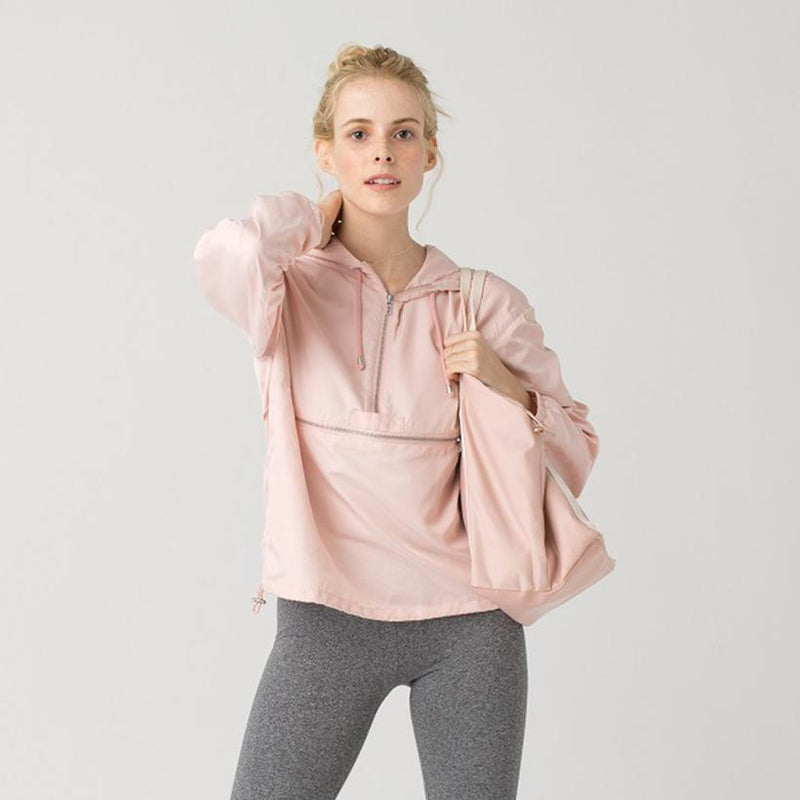 Thread & Supply - Lyanna Women's Windbreaker, Peachy Pink - The Giant Peach