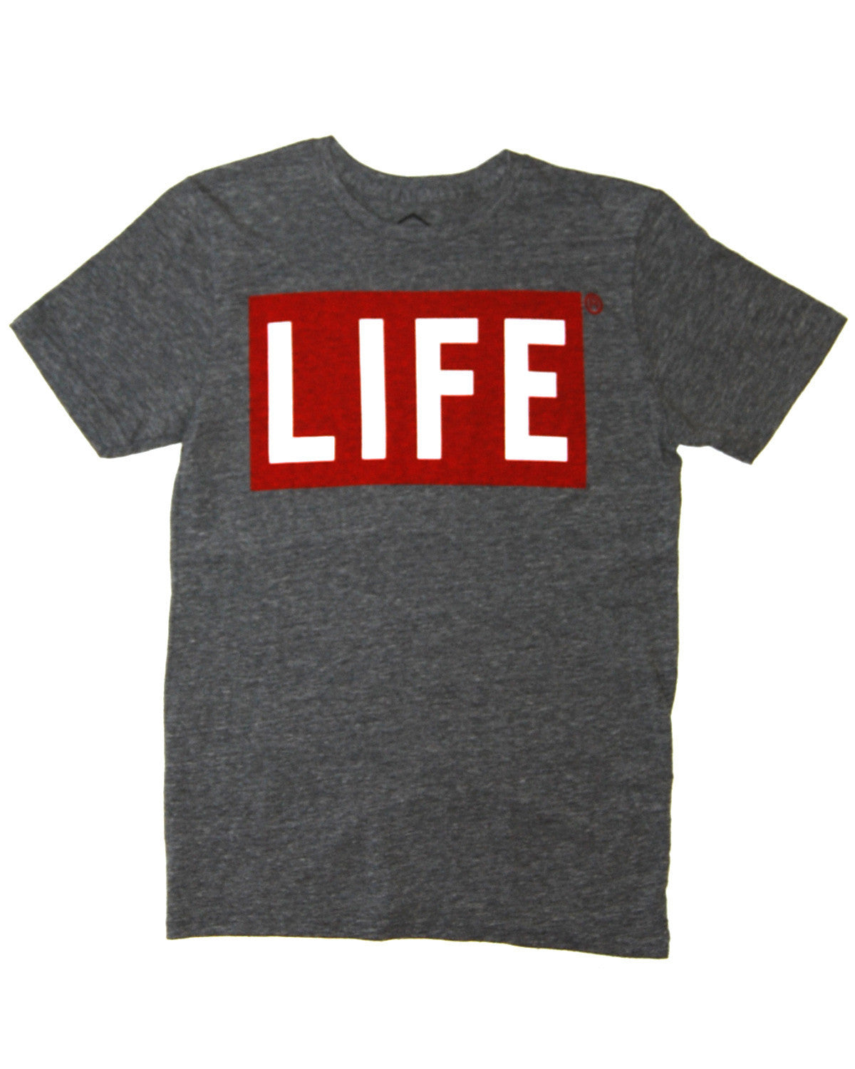 Altru Apparel - Life 2 Color Logo Men's Tee, Grey Triblend - The Giant Peach