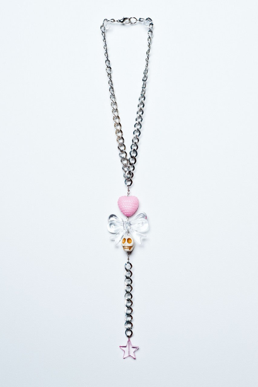 TRiXY STARR - Lisa Necklace, Silver/clear/pink/white - The Giant Peach