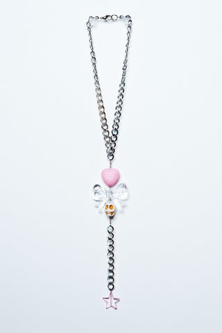 TRiXY STARR - Lisa Necklace, Silver/clear/pink/white