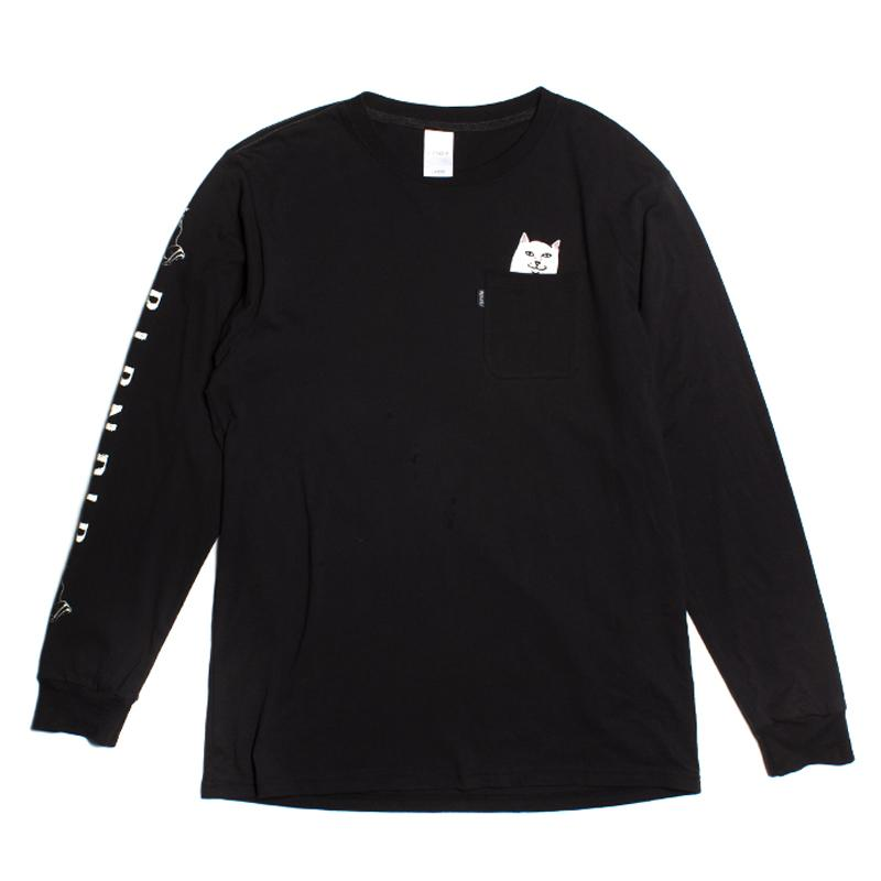RIPNDIP - Lord Nermal Men's L/S Pocket Tee, Black