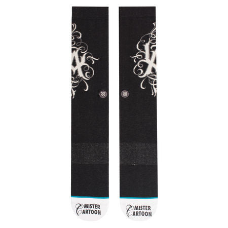 Stance - Mister Cartoon 25th Men's Socks, Black - The Giant Peach