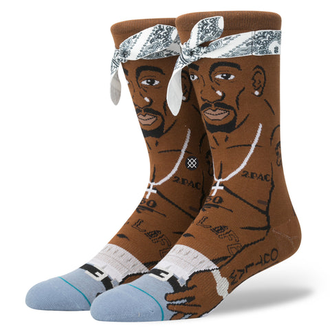Stance x 2Pac - Tupac Men's Socks, Brown