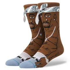 Stance x 2Pac - Tupac Men's Socks, Brown - The Giant Peach