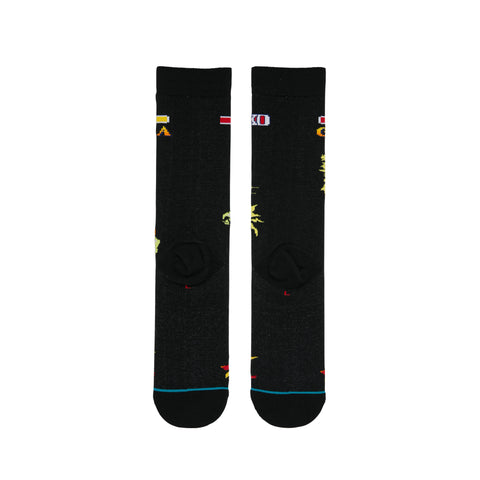 Stance x Street Fighter II - Guile vs Blanka Men's Socks, Black