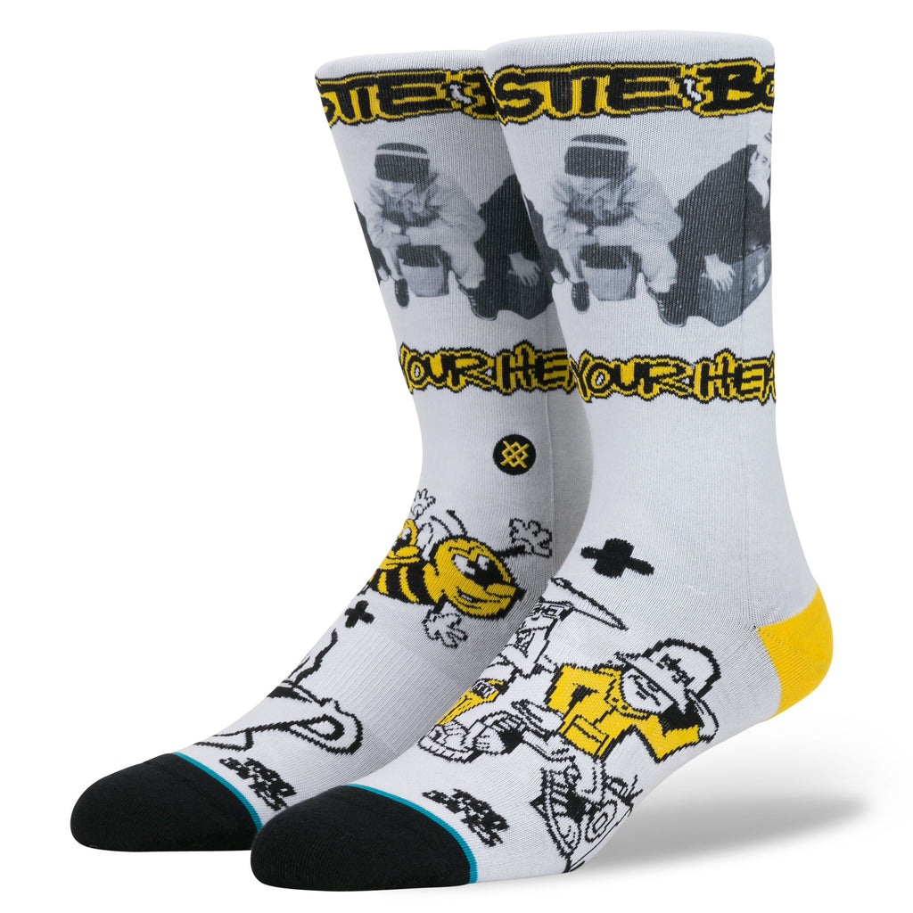 Stance x Beastie Boys - Check Your Head Men's Socks, White - The Giant Peach