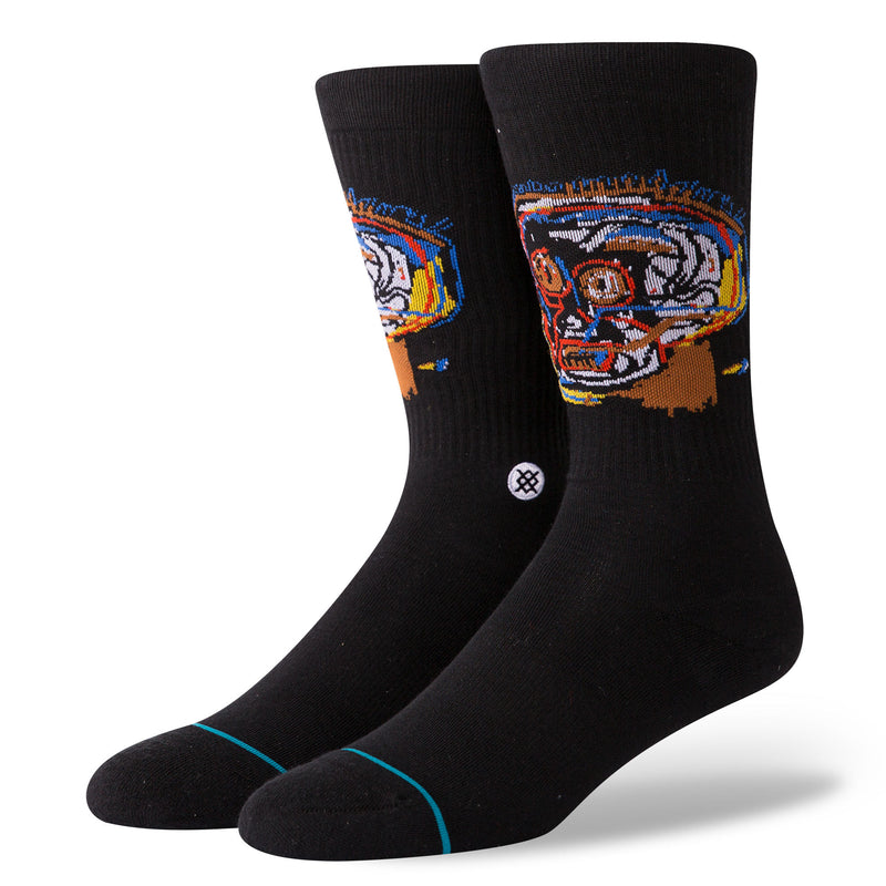 Stance x Basquiat - Head Case Men's Socks, Black