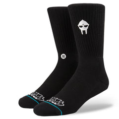 Stance x MF DOOM - DOOM Embroidery Men's Socks, Black - The Giant Peach